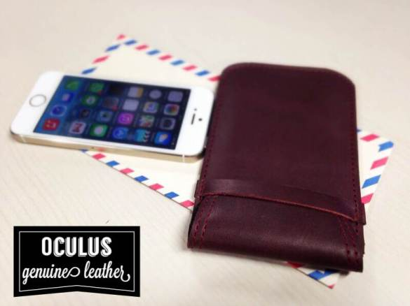 iPhone 5S dan Oculus Genuine Leather Pouch